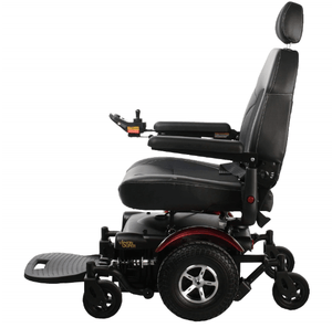 Vision Super Mid-Wheel Bariatric Power Wheelchair P327 - Left Side