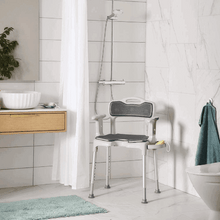 With Accessories - Swift Shower Stool/Chair by Etac | Wheelchair Liberty