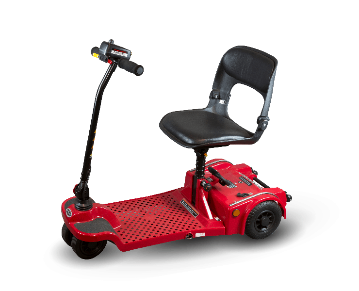 Red - Echo Folding 4-Wheel Electric Scooter by Shoprider | Wheelchair Liberty