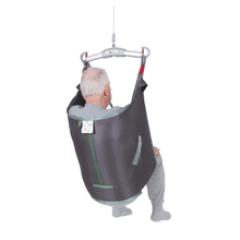 Polyester Back View - Universal Basic Patient Sling for Handicare Patient Lifts - Wheelchair Liberty