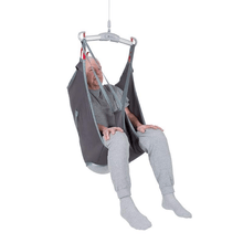 Polyester Front View - Universal Basic Patient Sling for Handicare Patient Lifts - Wheelchair Liberty