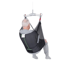 Polyester Net Back View - Universal Basic Patient Sling for Handicare Patient Lifts - Wheelchair Liberty