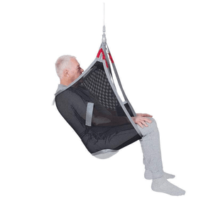 Polyester Net Side View - Universal Basic Patient Sling for Handicare Patient Lifts - Wheelchair Liberty
