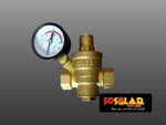 Solar Geyser: Pressure reducing value with gauge DN15 - Solar Etc.