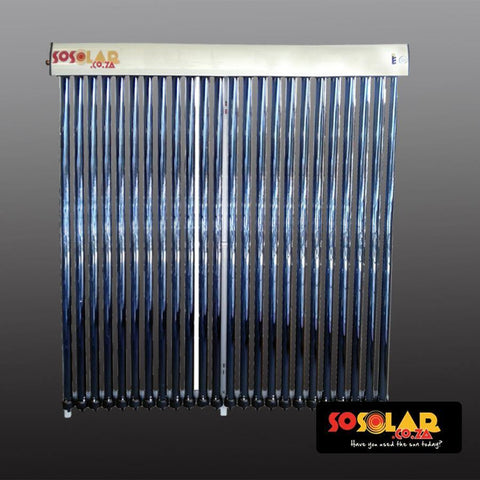 Solar Geyser: Water Collectors (Low Pressure) 18 Tube - Solar Etc.