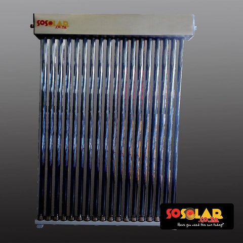 Solar Geyser: Water Collectors (Low Pressure) 25 Tube - Solar Etc.