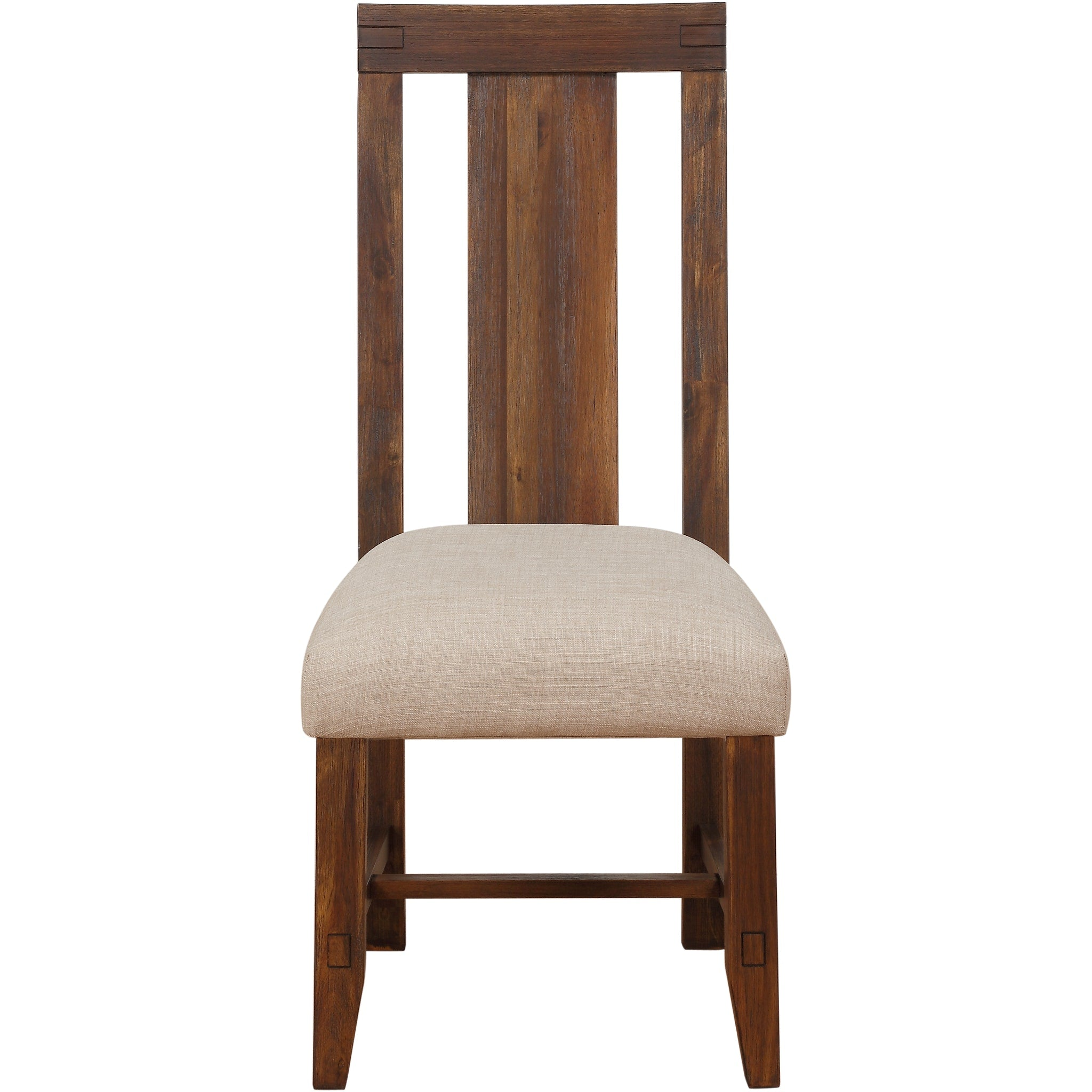 Meadow Solid Wood Upholstered Dining Chair in Brick Brown
