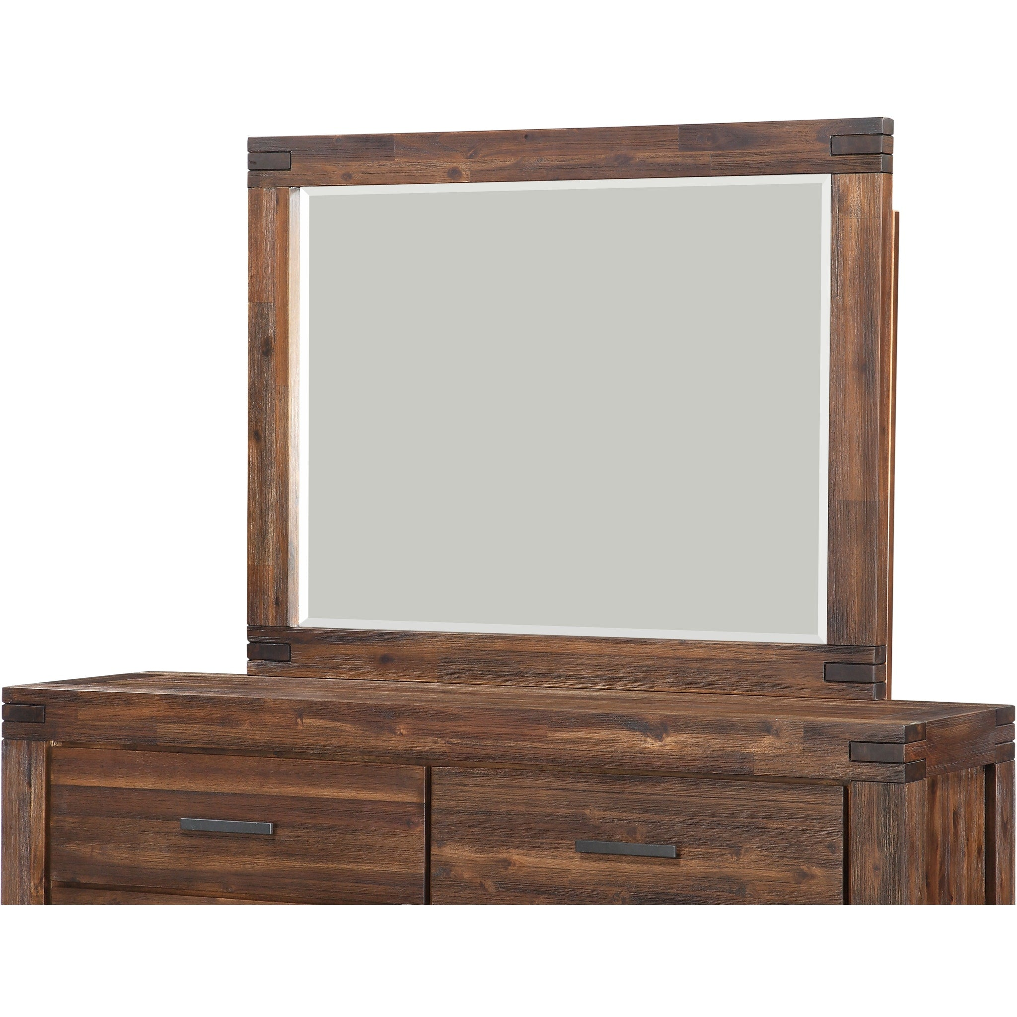 Meadow Solid Wood Mirror in Brick Brown