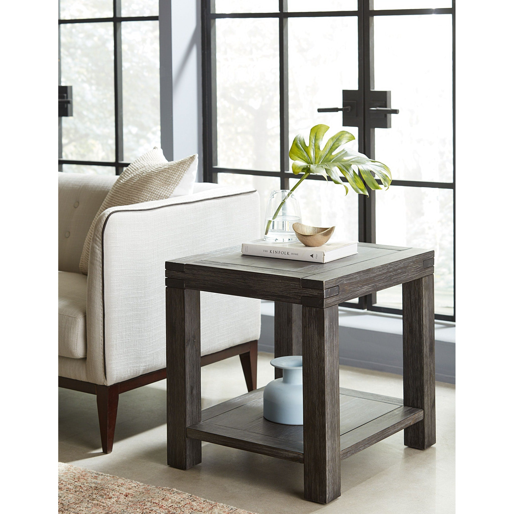 Meadow Solid Wood End Table in Graphite