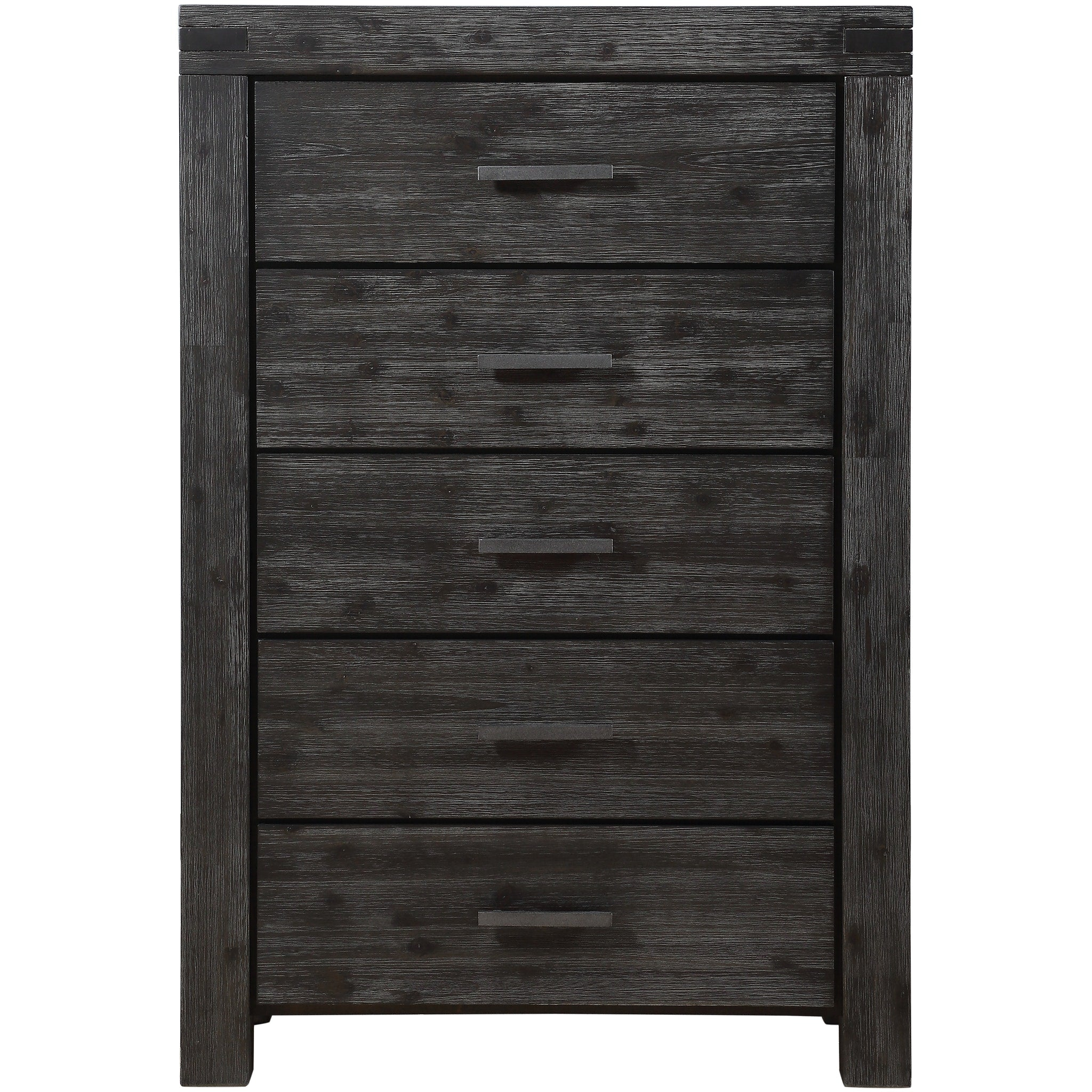Meadow Five Drawer Solid Wood Chest in Graphite
