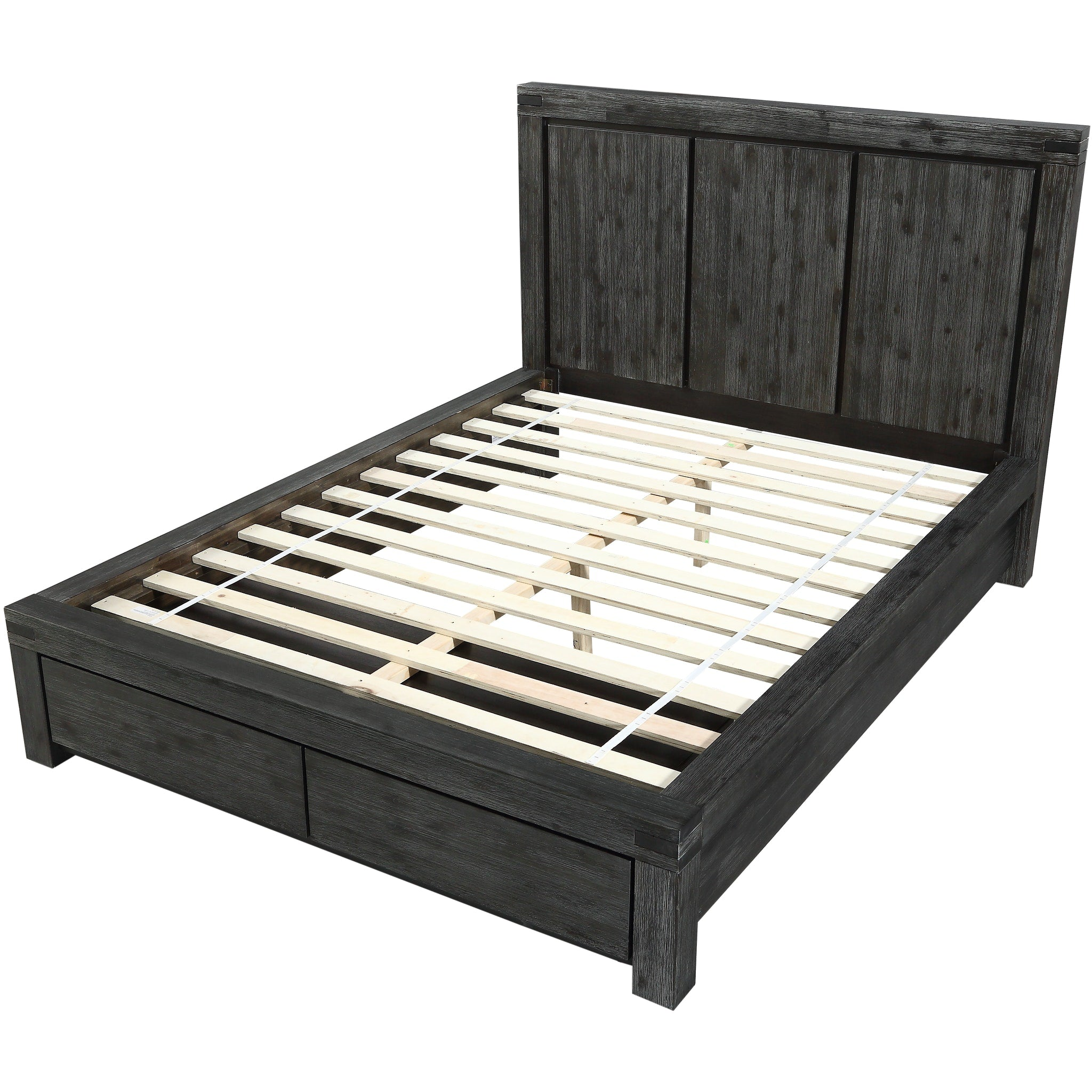 Meadow Full-Size Solid Wood Storage Bed in Graphite