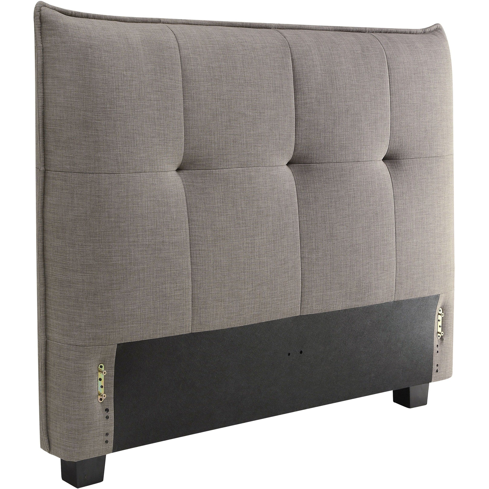 Adona California King-Size Upholstered Headboard in Dolphin Linen