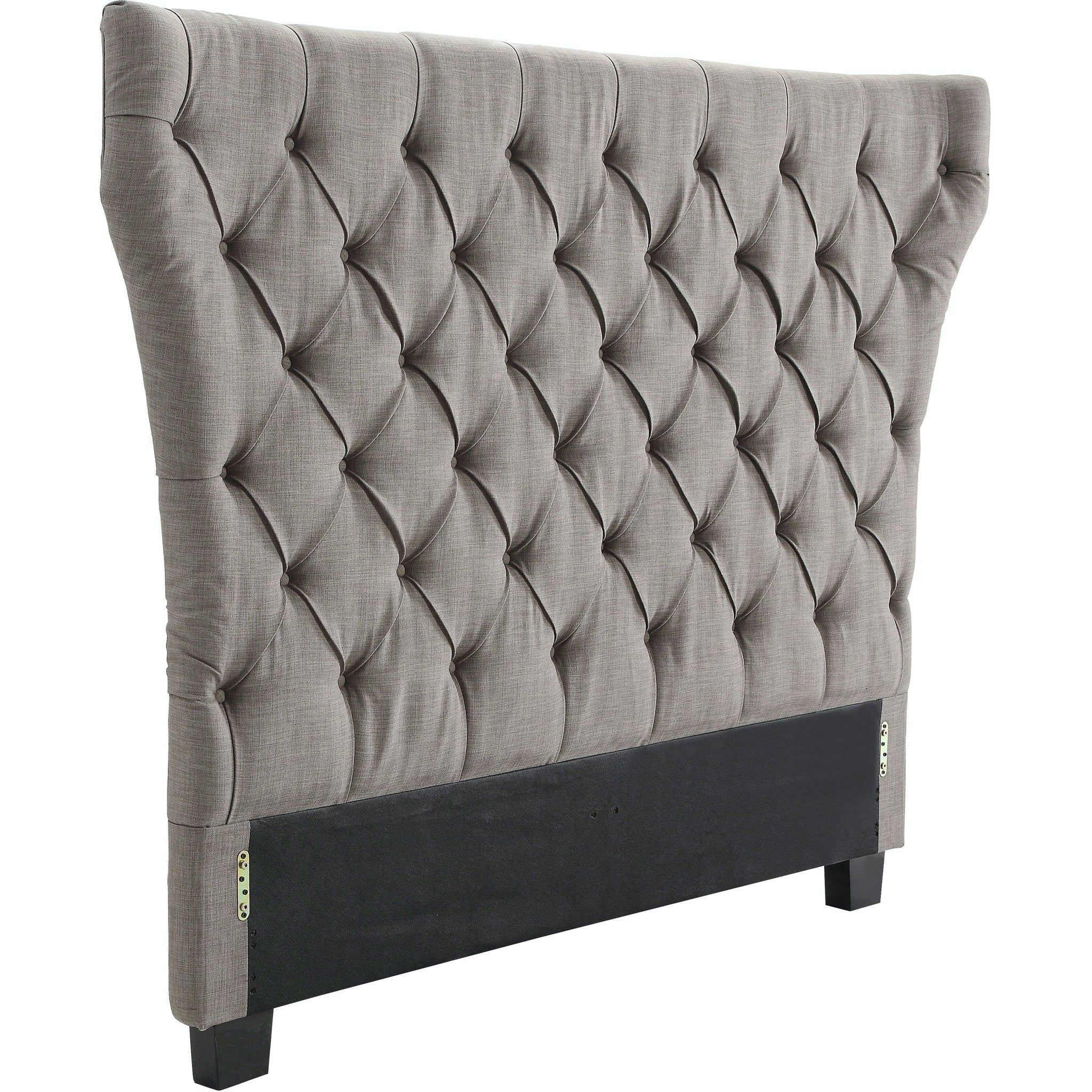 Melina Queen-Size Upholstered Headboard in Dolphin Linen