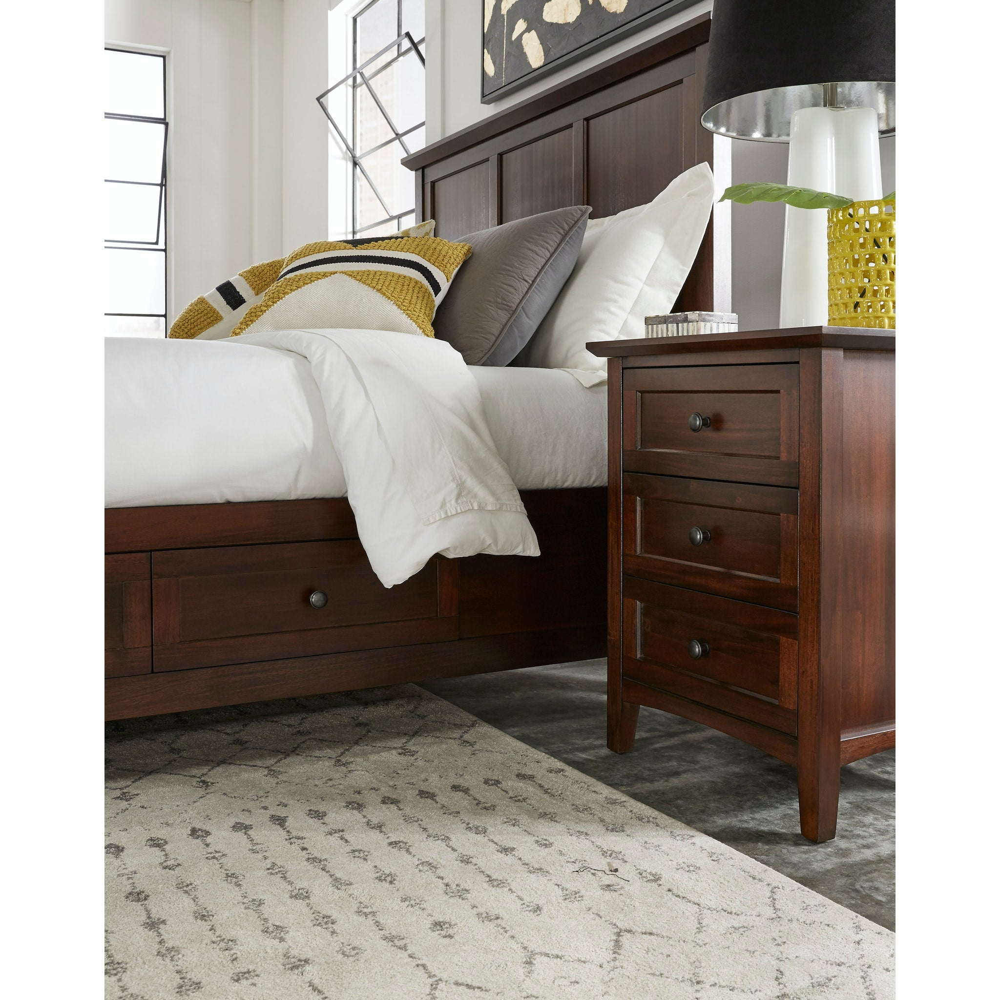 Paragon Three Drawer Nightstand in Truffle