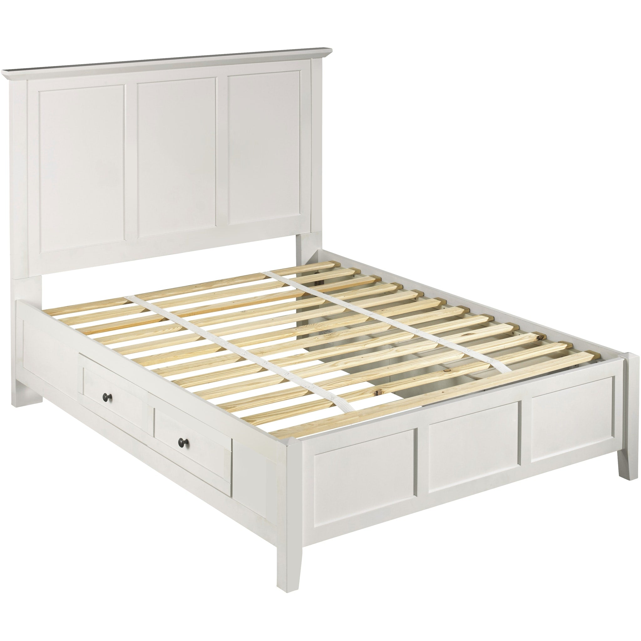 Paragon King-size Four Drawer Storage Bed in White
