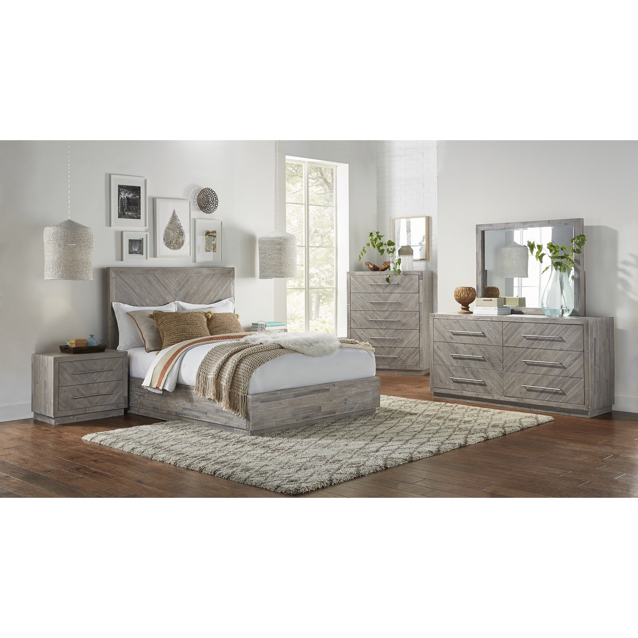 Alexandra Full-Size Solid Wood Storage Bed in Rustic Latte