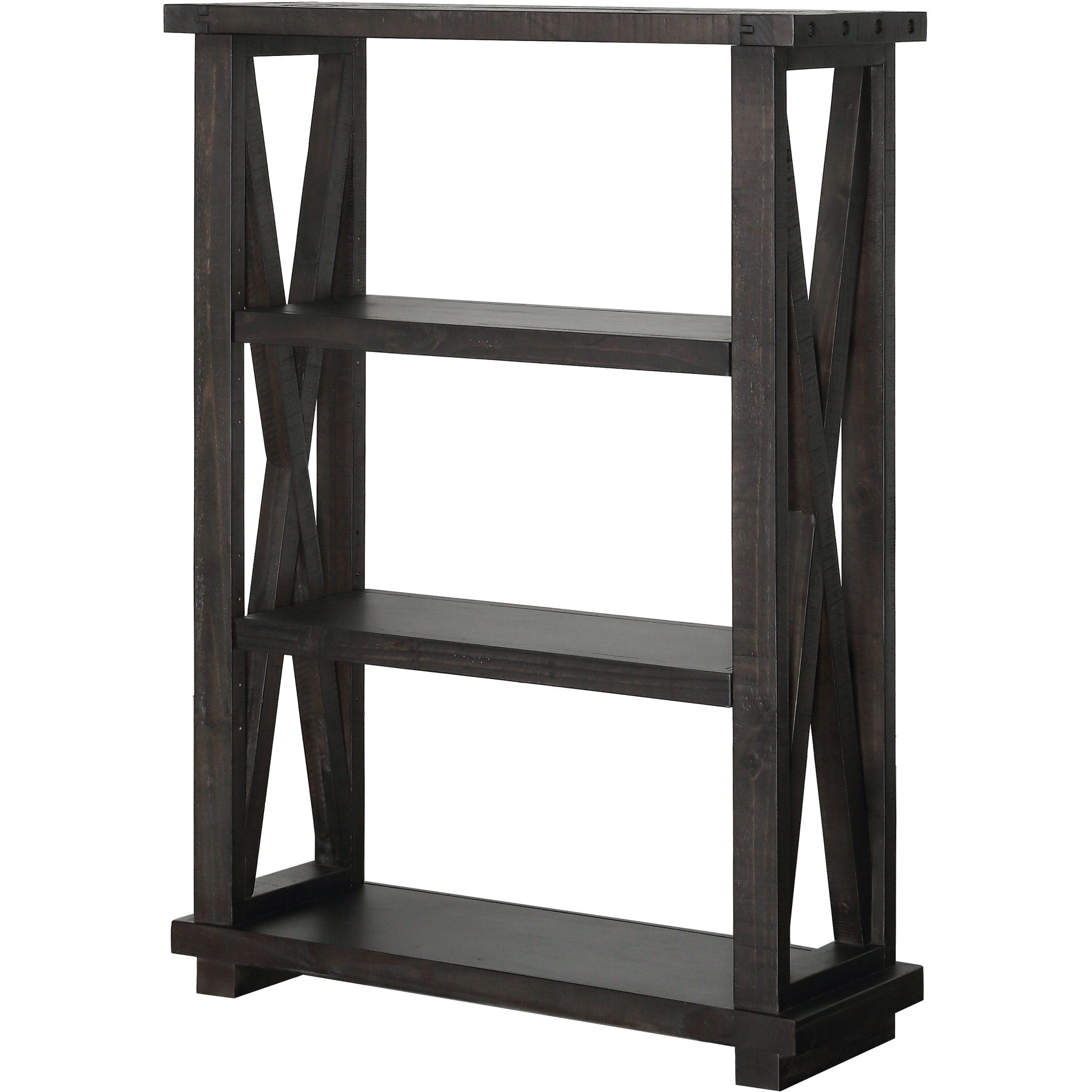 "Yosemite Solid Wood 54x39"" Bookshelf in Café"