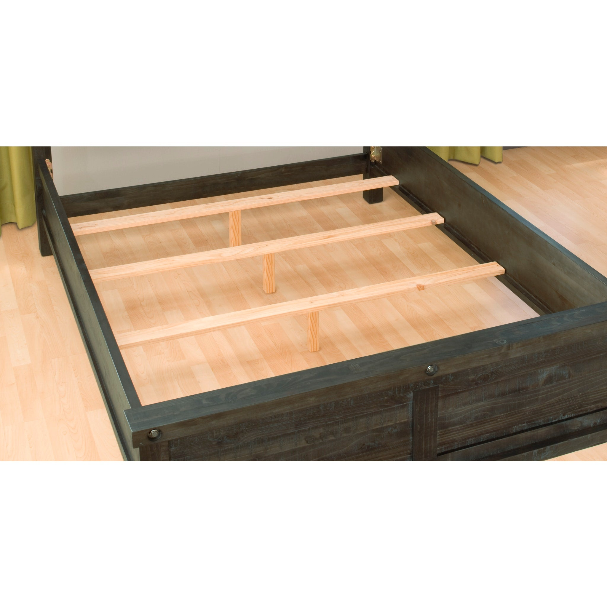 Yosemite King-size Solid Wood Panel Bed in Café