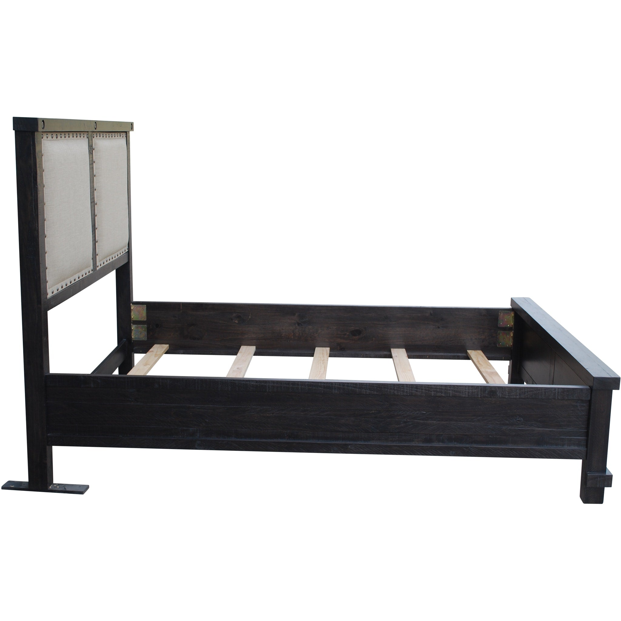 Yosemite Full-size Upholstered Panel Bed in Café