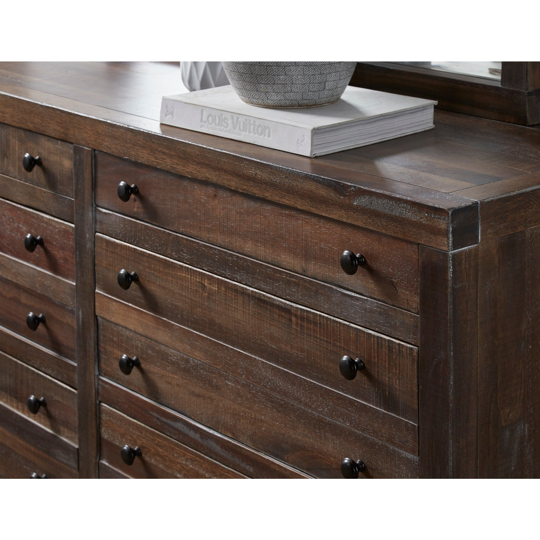 Townsend Eight Drawer Solid Wood Dresser in Java