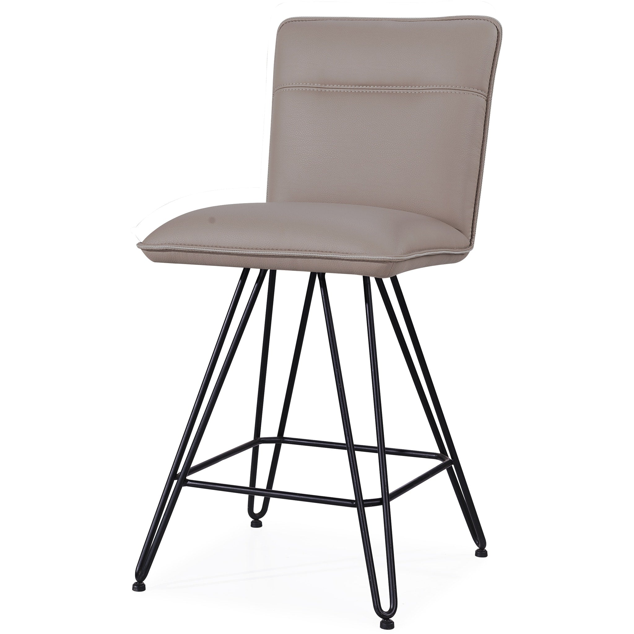 Demi Hairpin Leg Swivel Counter Stool in Taupe