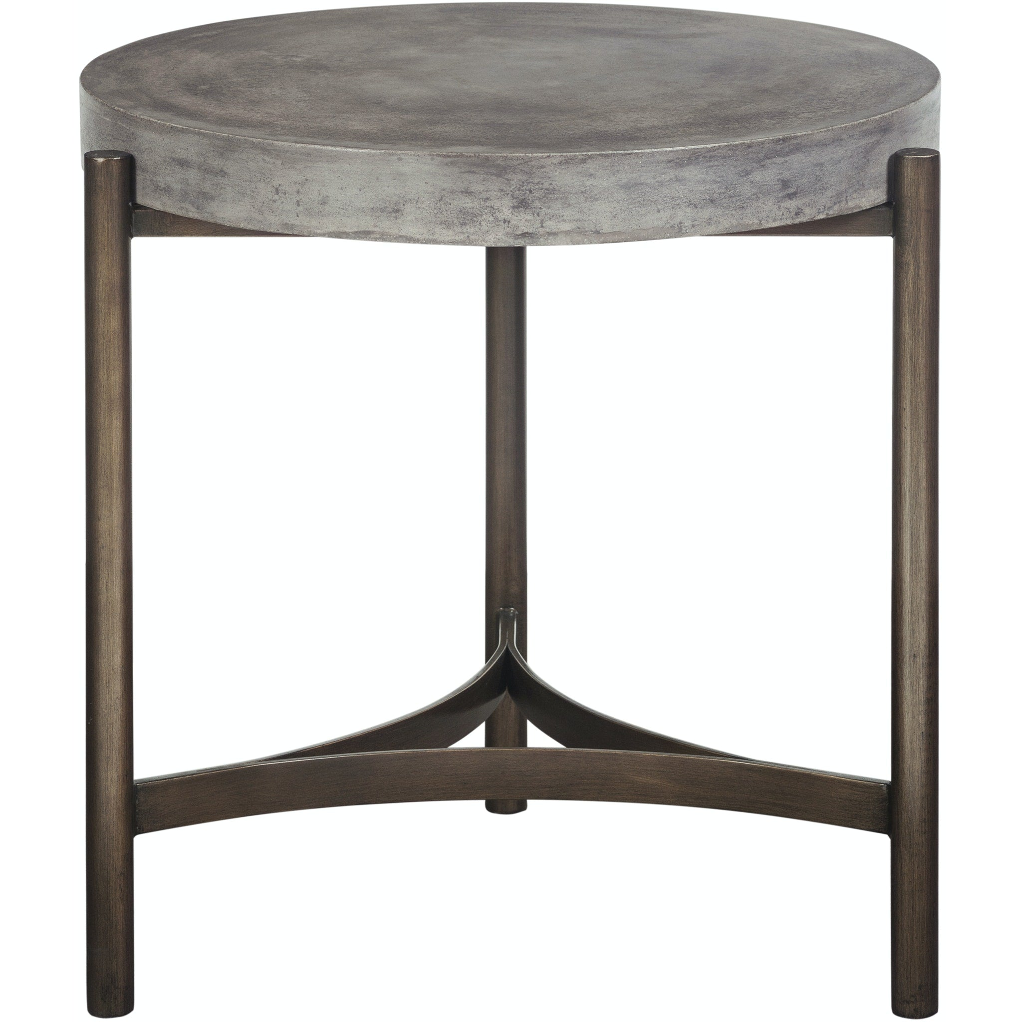Lyon Round Concrete and Metal Side Table