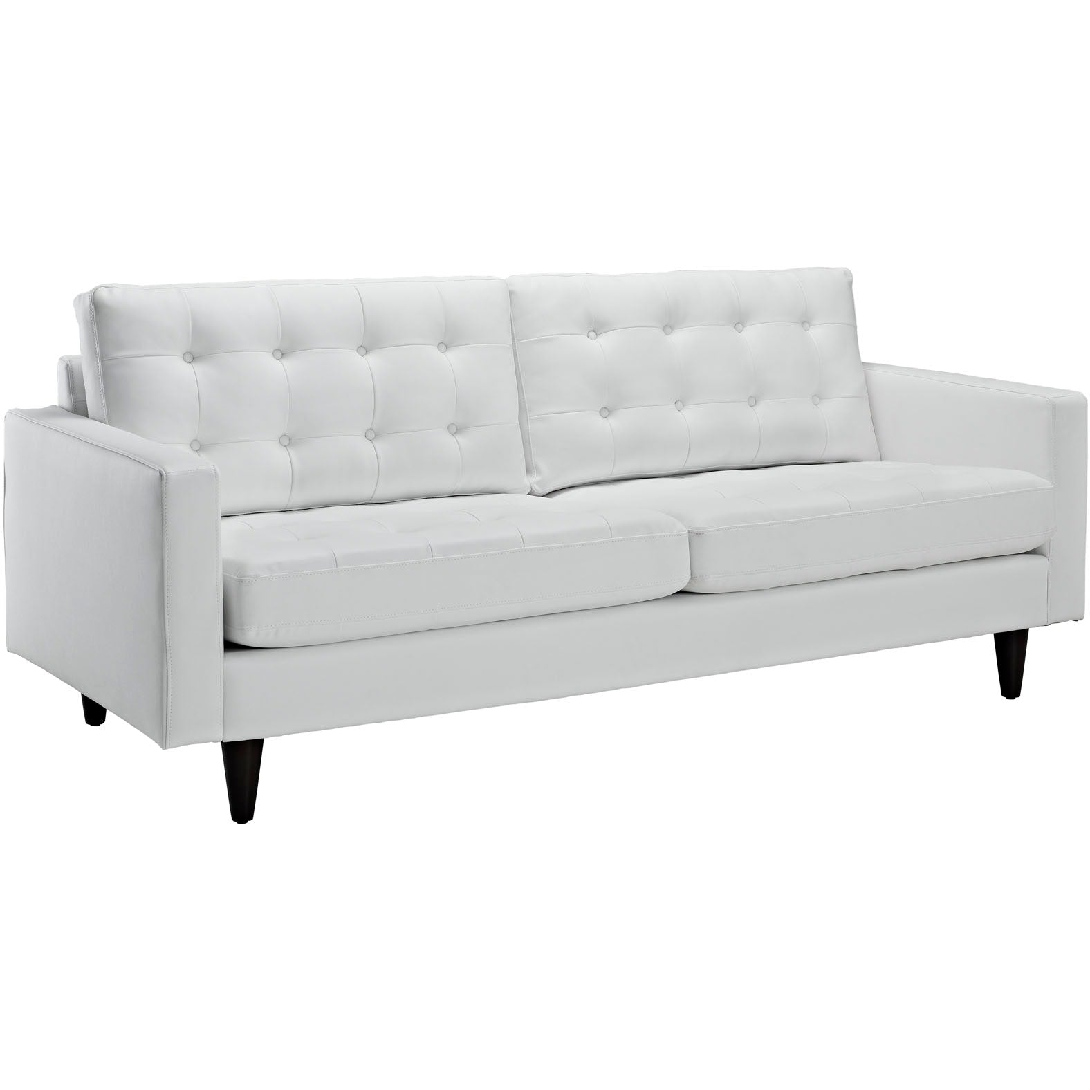 Empress Sofa and Armchair Set of 2 - White