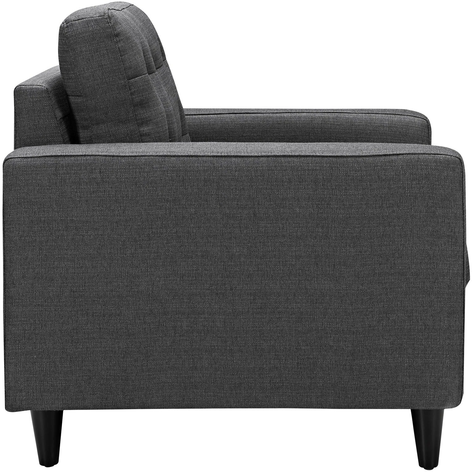 Empress Sofa and Armchairs Set of 3 - Gray