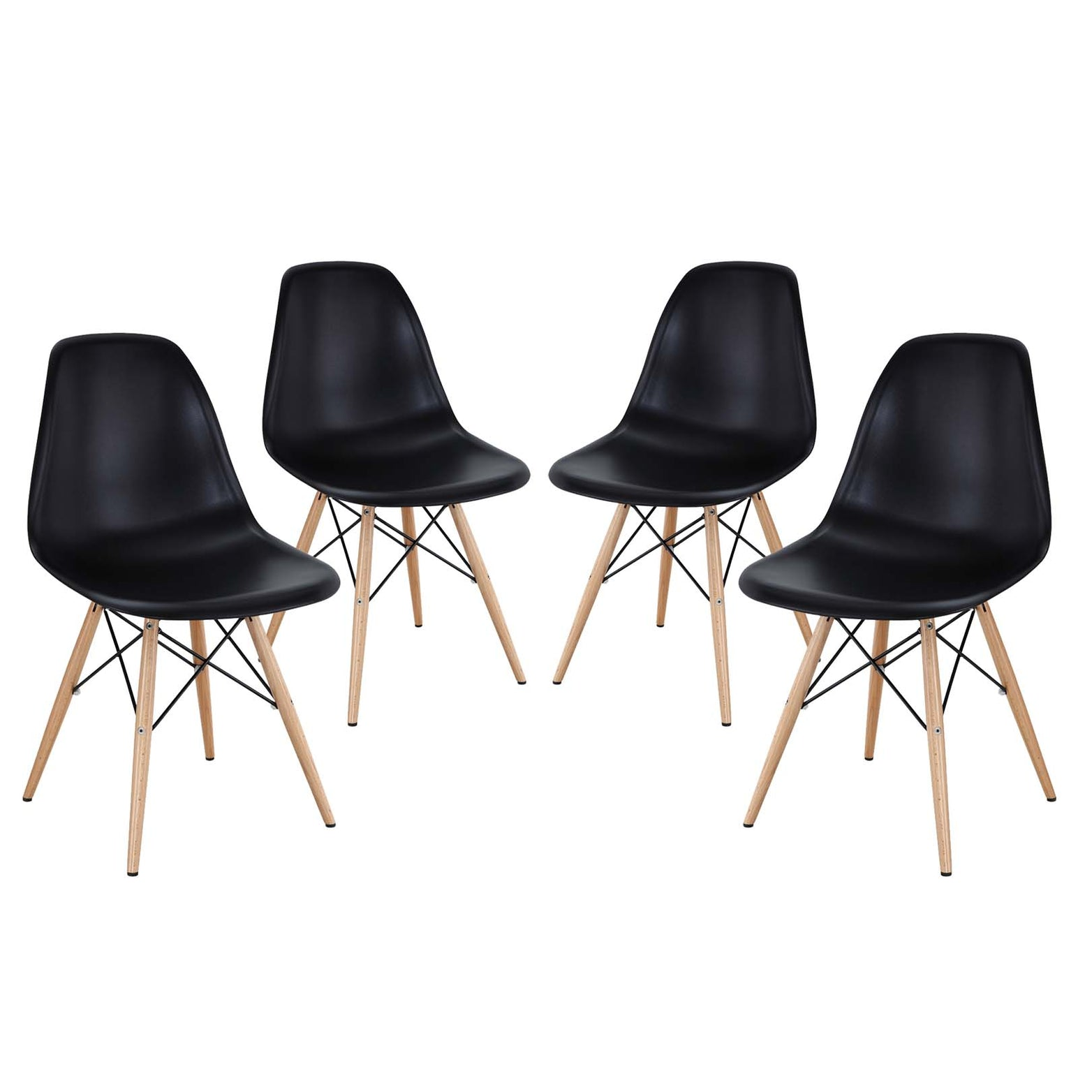 Pyramid Dining Side Chairs Set of 4 - Black
