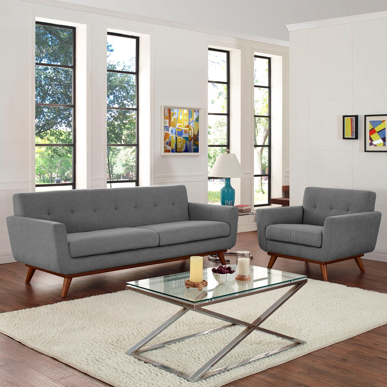 Engage Armchair and Sofa Set of 2 - Expectation Gray