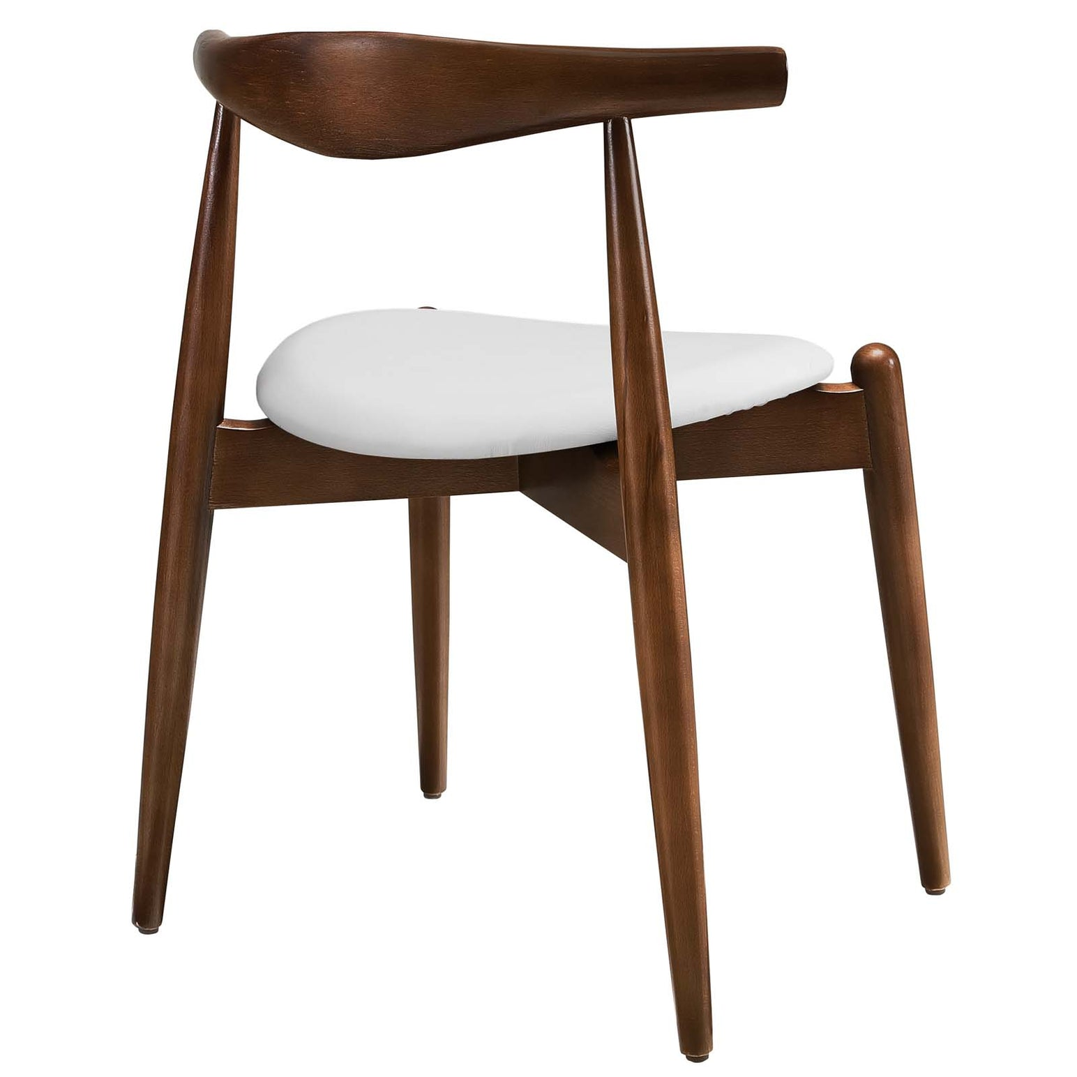 Stalwart Dining Side Chairs Set of 4 - Dark Walnut White