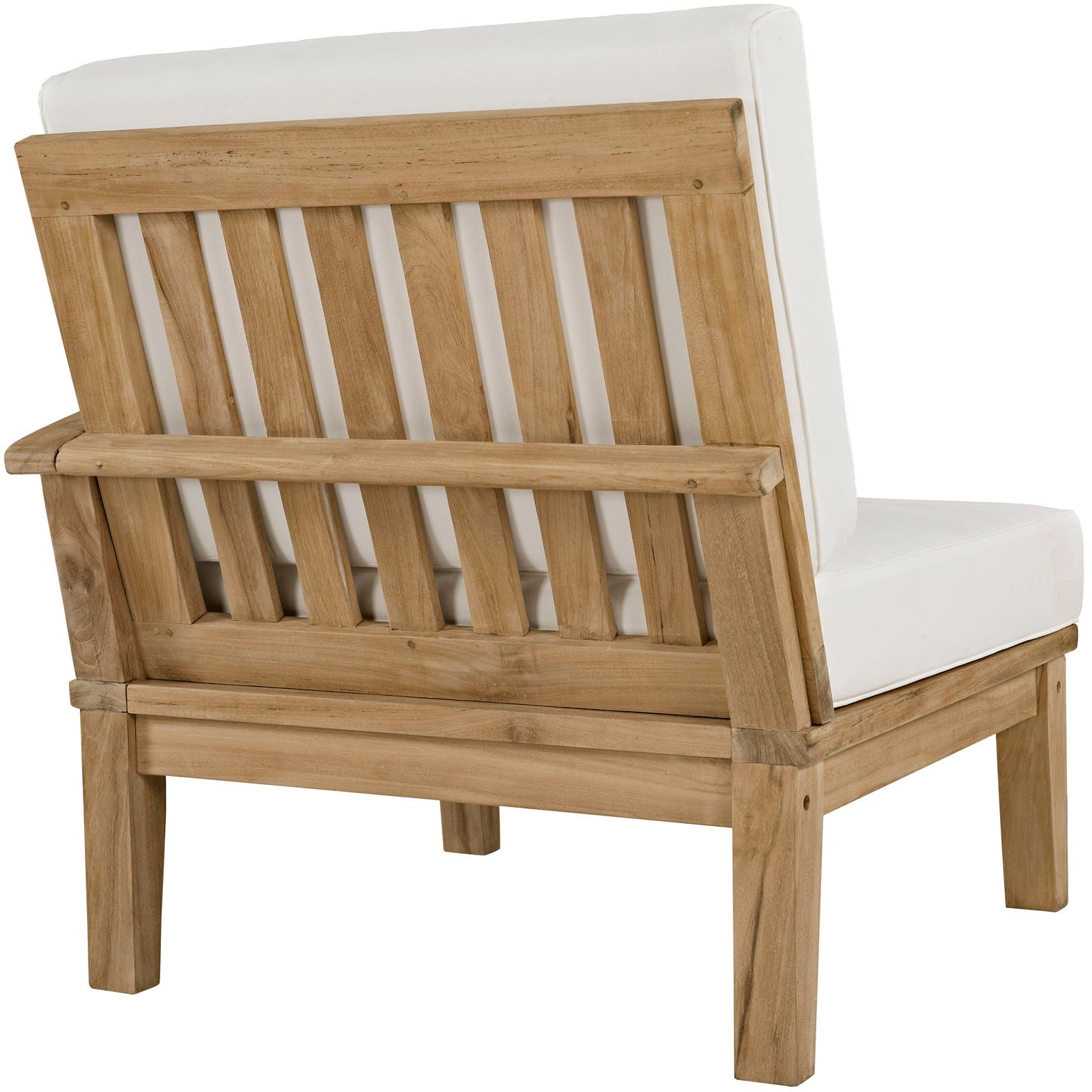 Marina 10 Piece Outdoor Patio Teak Set - Natural White