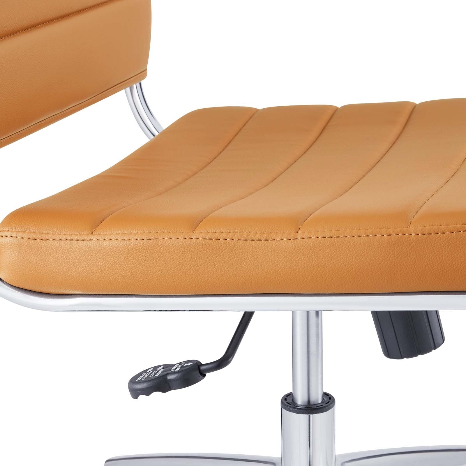Jive Armless Mid Back Office Chair - Tan