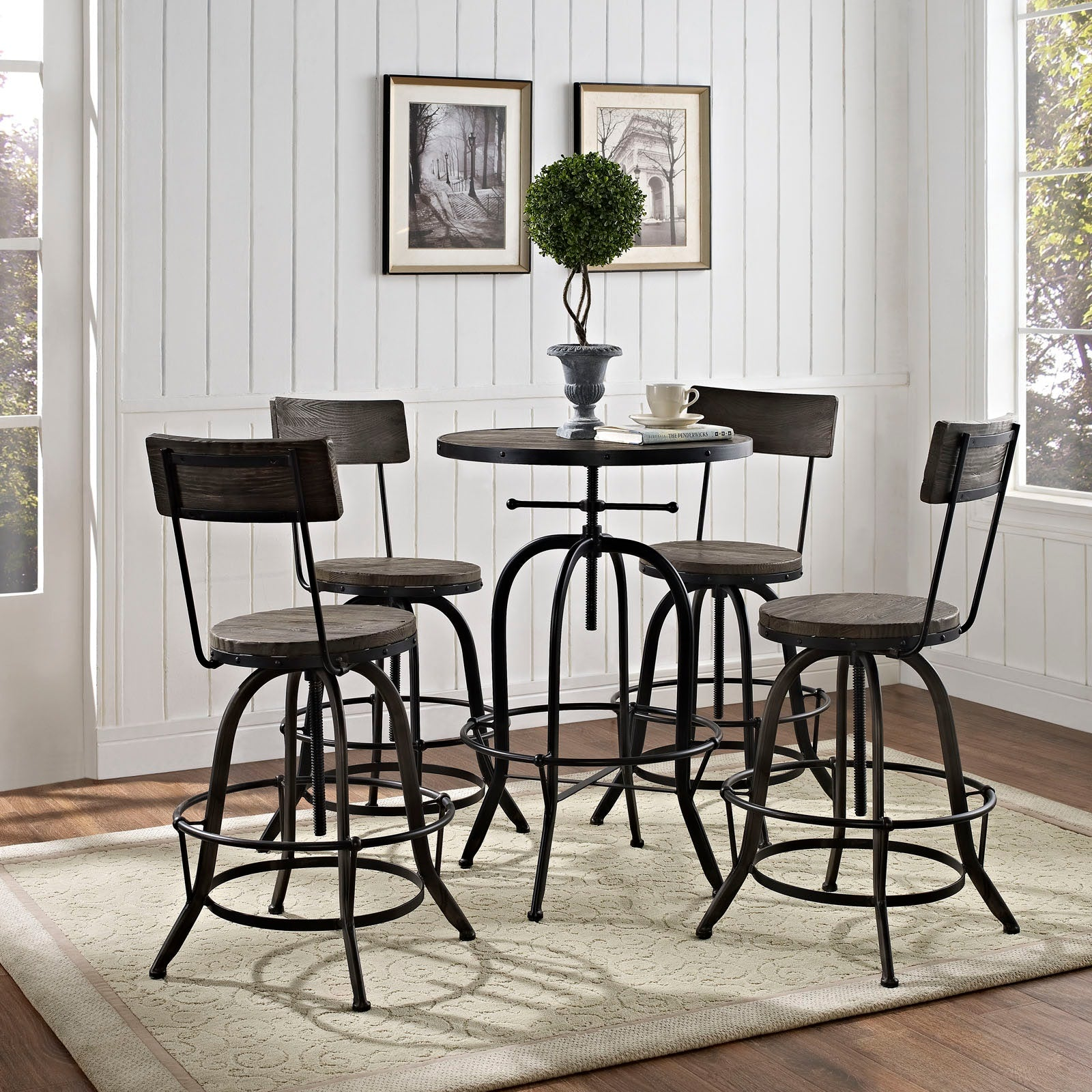 Gather 5 Piece Dining Set - Black
