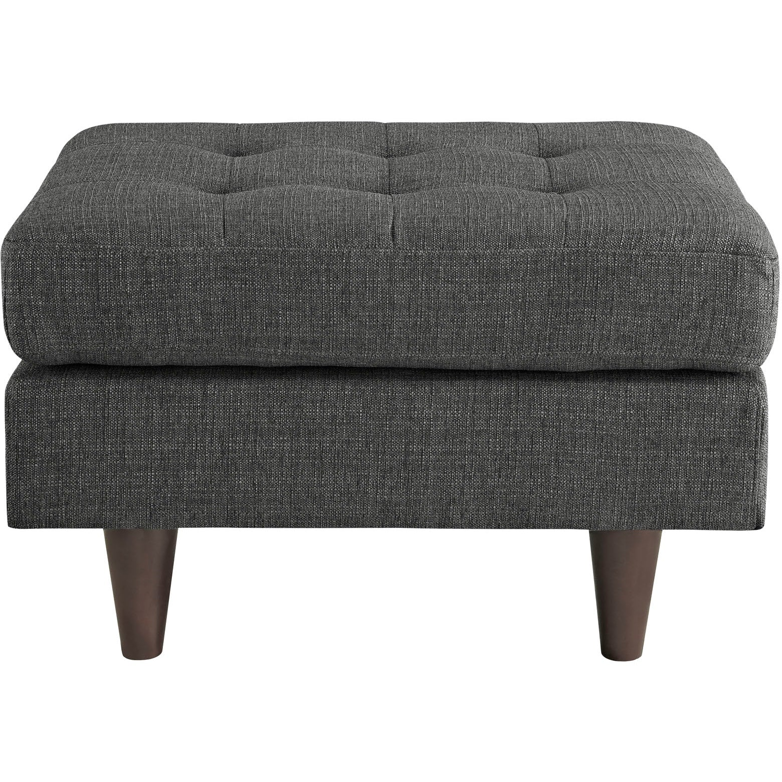 Empress Upholstered Fabric Ottoman - Gray