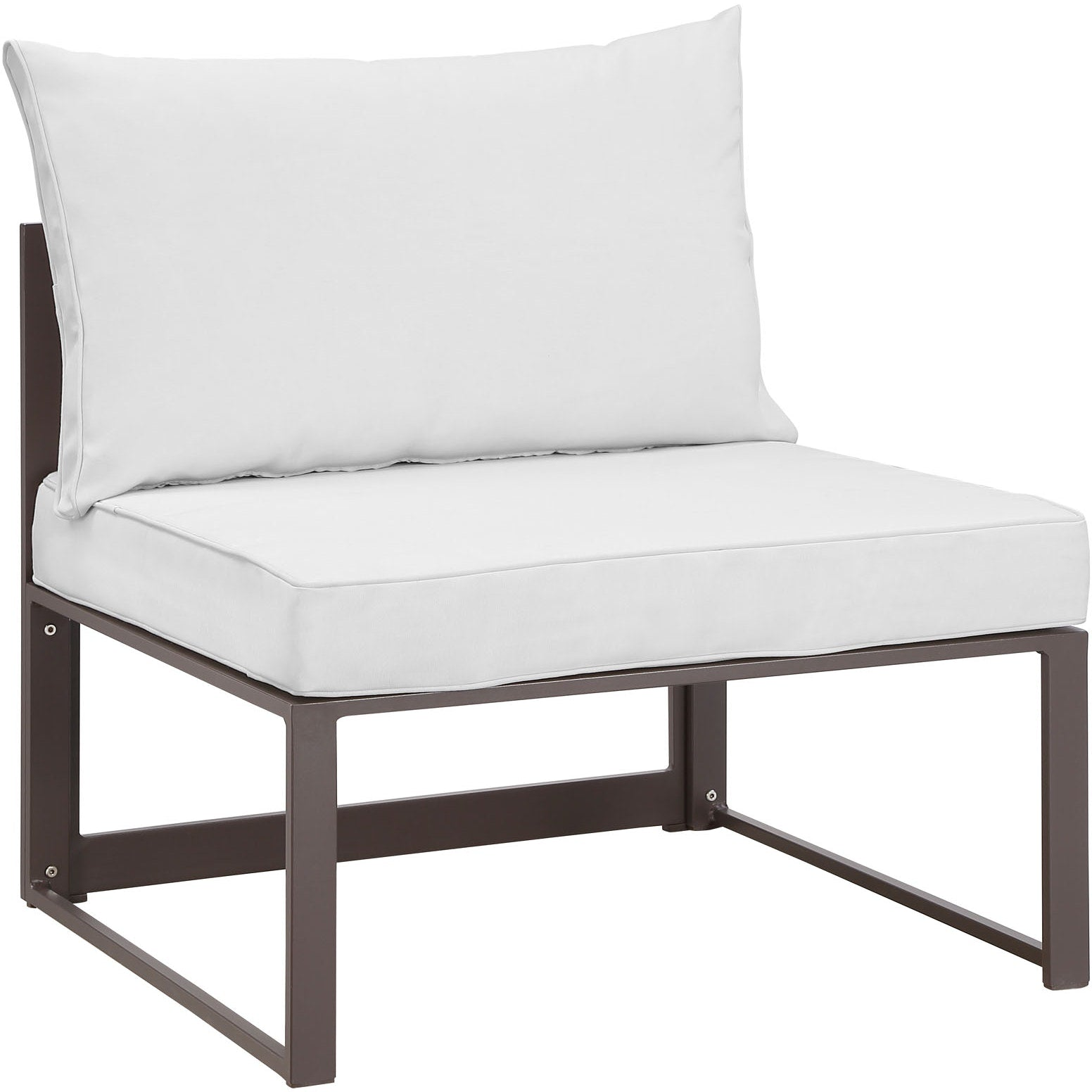 Fortuna 9 Piece Outdoor Patio Sectional Sofa Set - Brown White