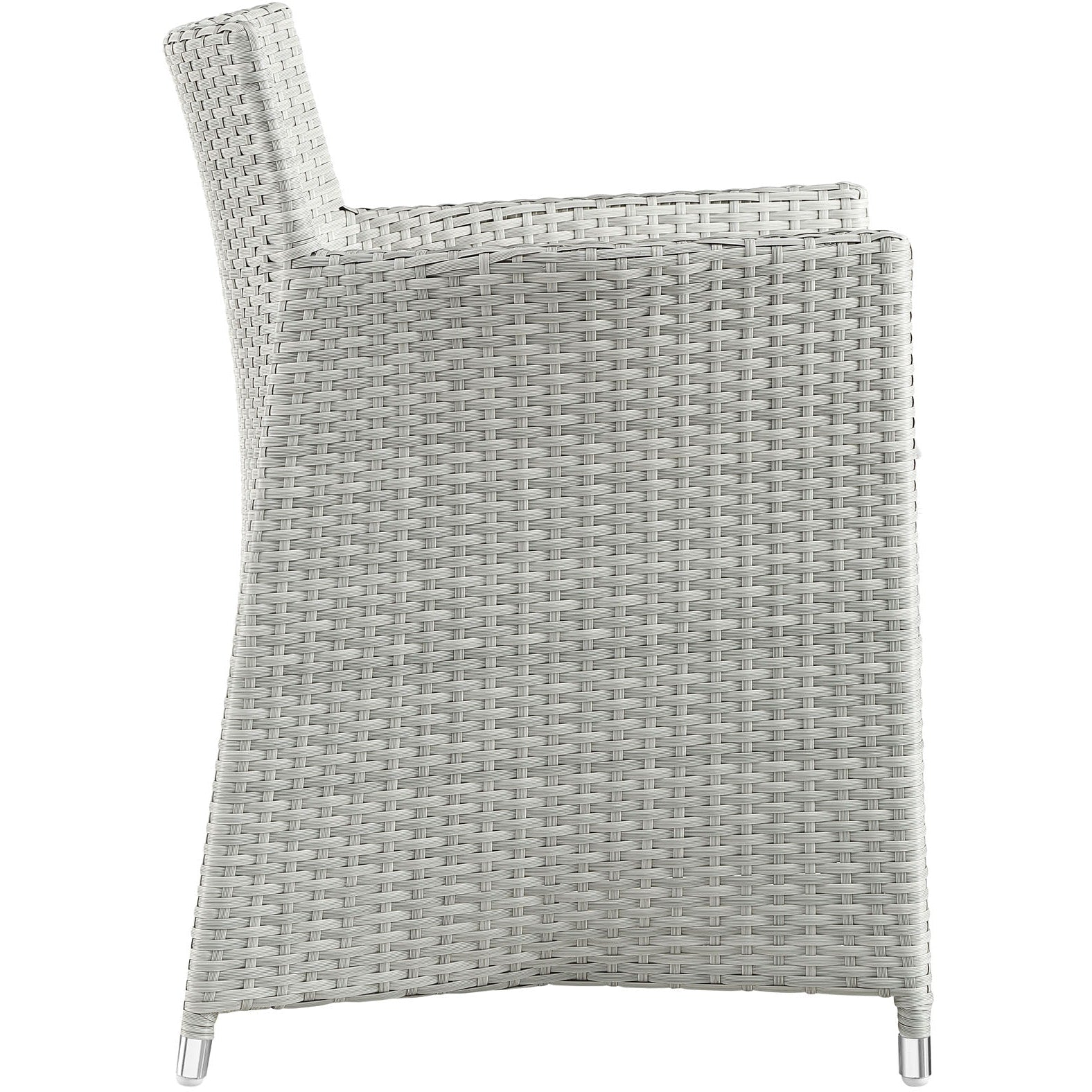 Junction Armchair Outdoor Patio Wicker Set of 2 - Gray White