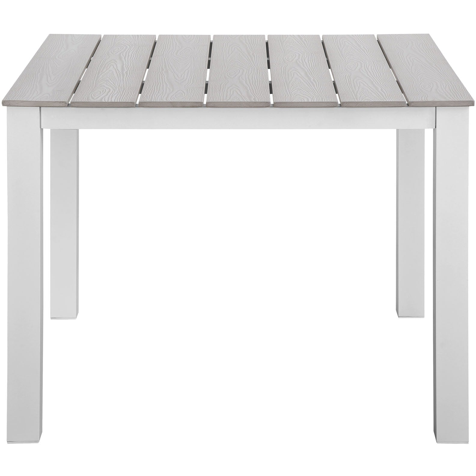 Maine 5 Piece Outdoor Patio Dining Set - White Light Gray