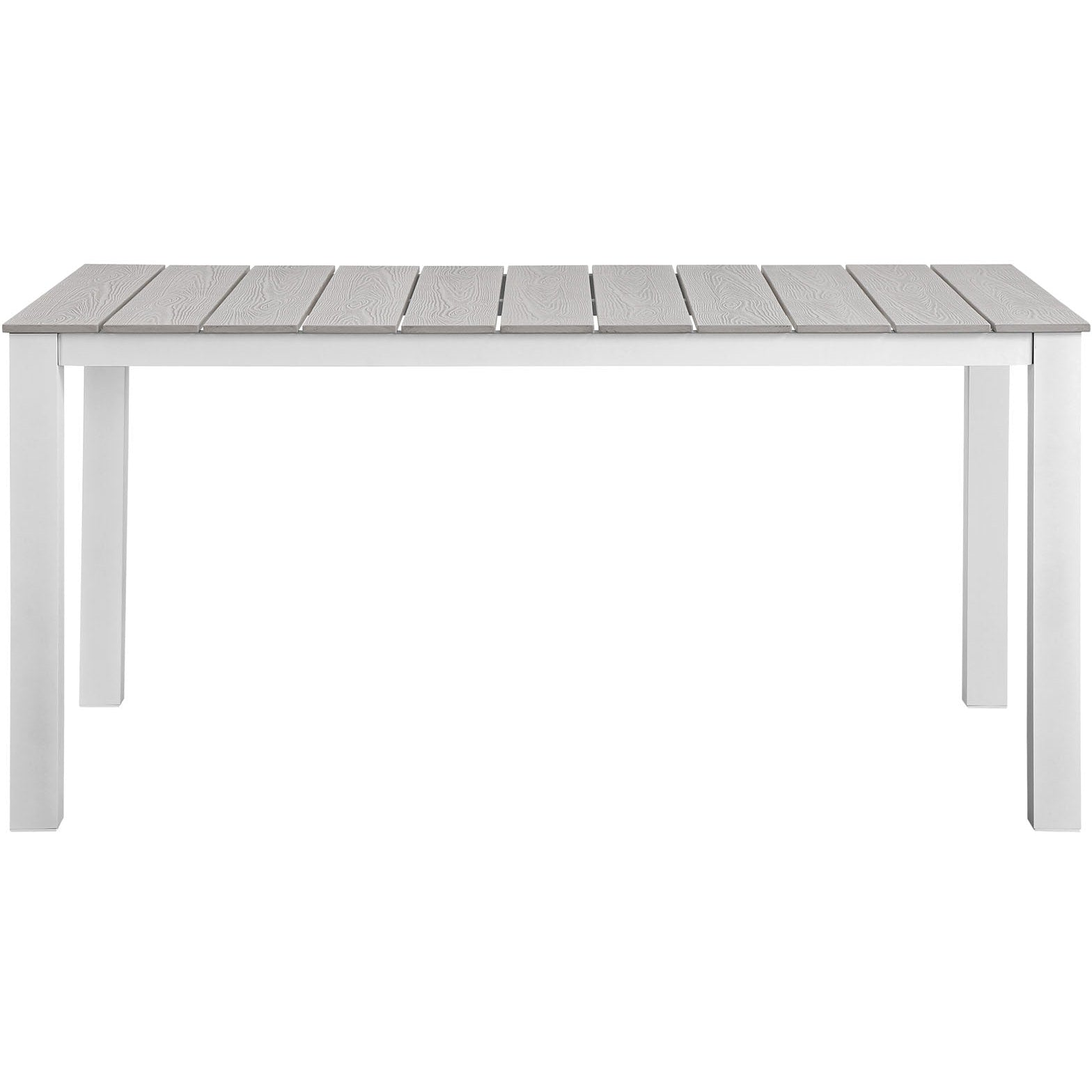 Junction 7 Piece Outdoor Patio Dining Set - Gray White