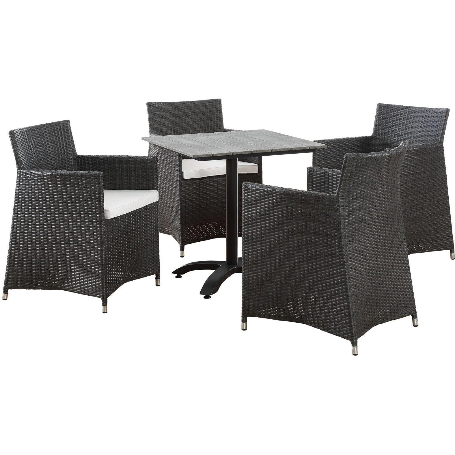 Junction 5 Piece Outdoor Patio Dining Set - Brown White