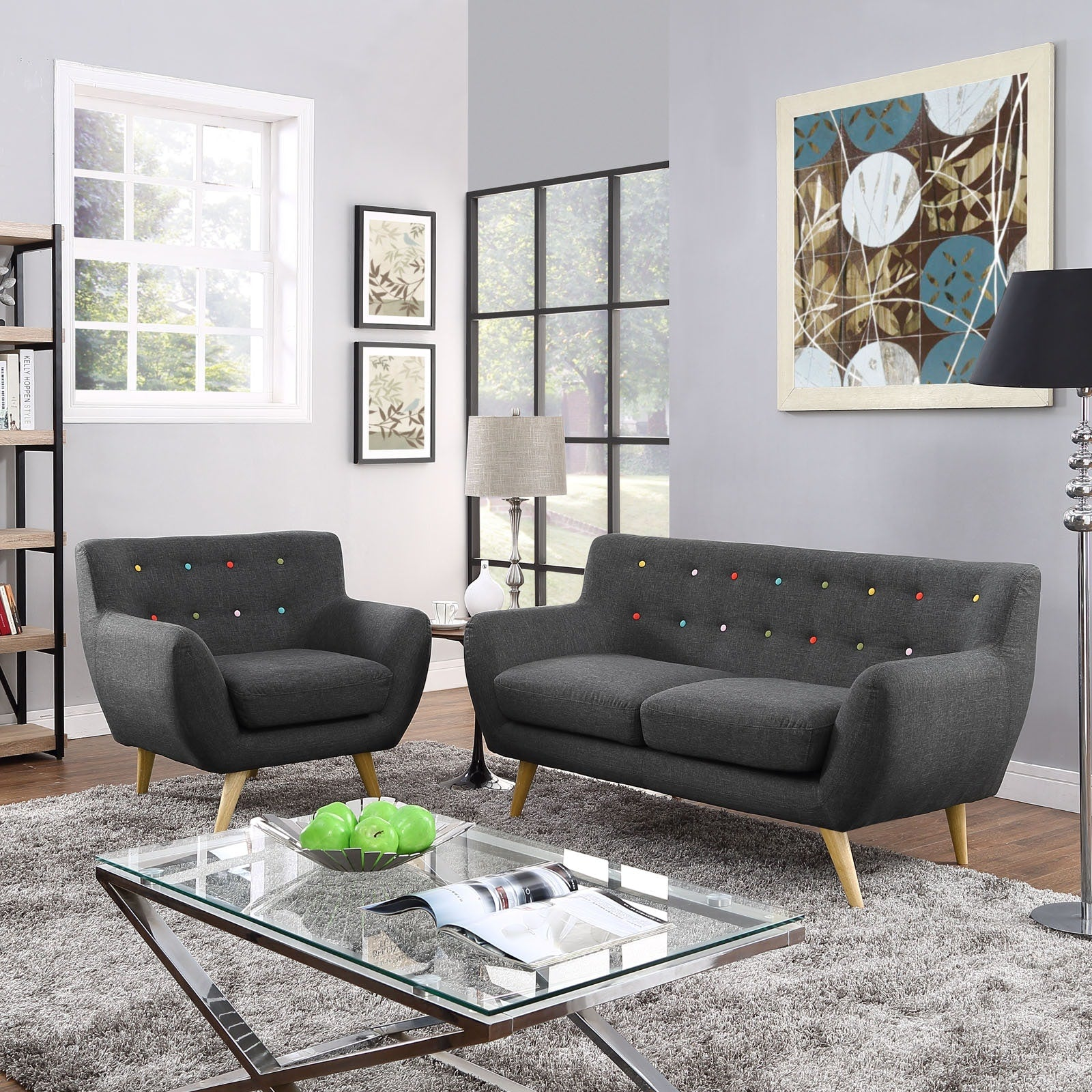 Remark 2 Piece Living Room Set - Gray