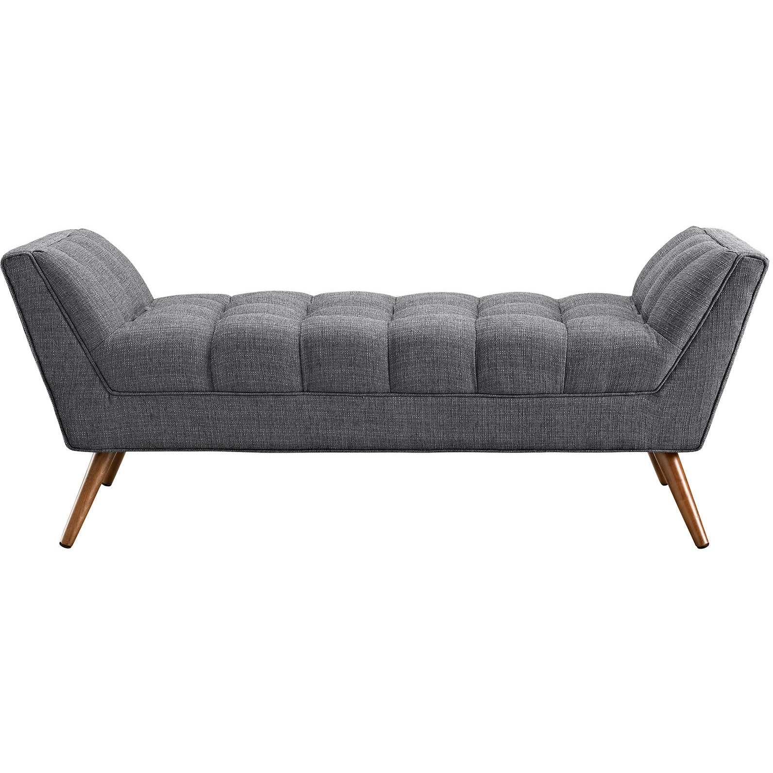 Response Medium Upholstered Fabric Bench - Gray