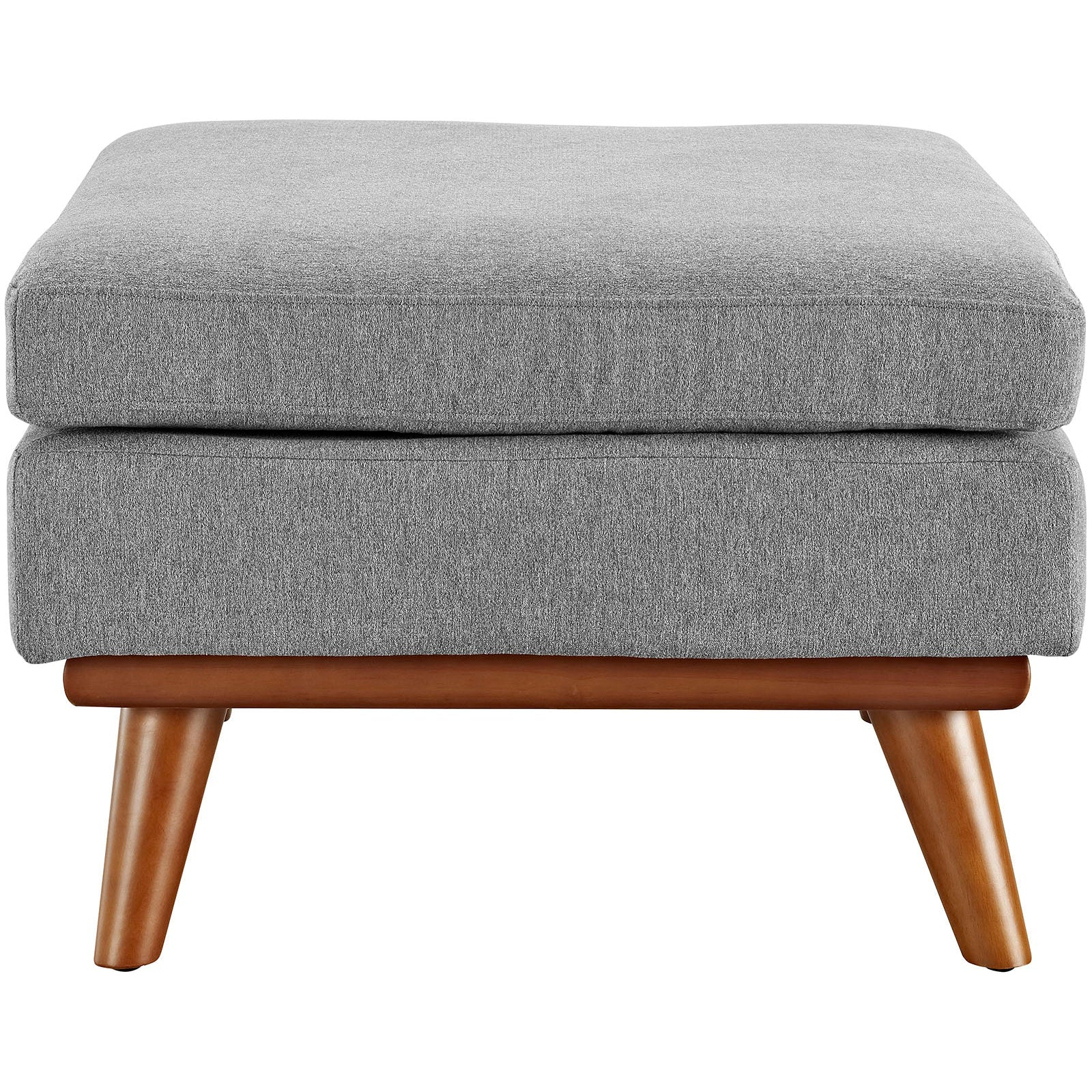 Engage Upholstered Fabric Ottoman - Expectation Gray