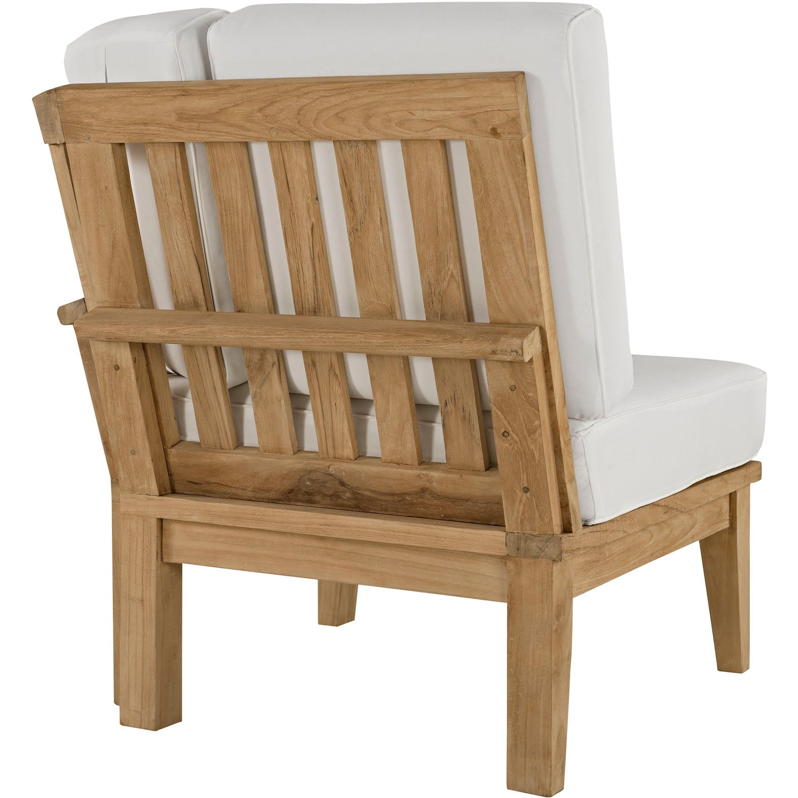 Marina 6 Piece Outdoor Patio Teak Set - Natural White
