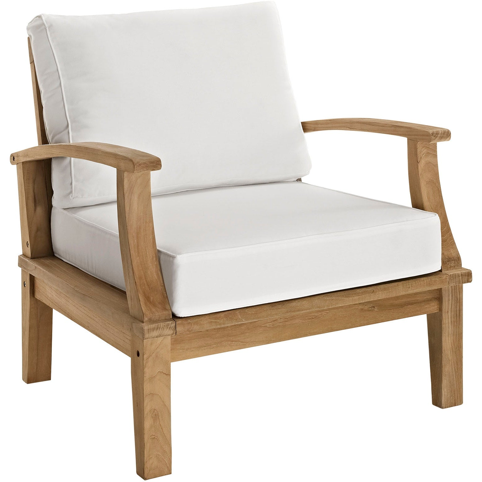 Marina 2 Piece Outdoor Patio Teak Set - Natural White