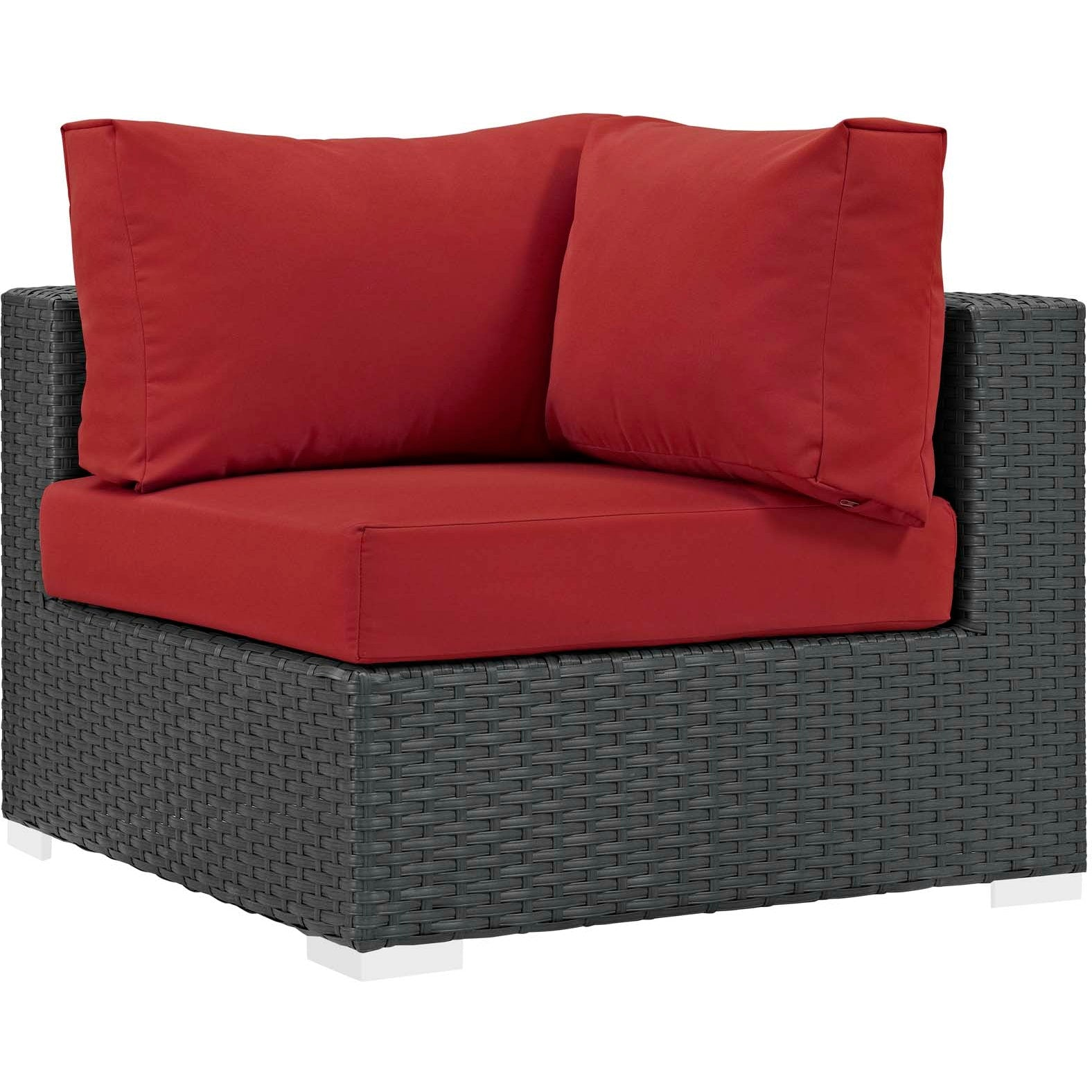 Sojourn Outdoor Patio Sunbrella® Corner - Canvas Red