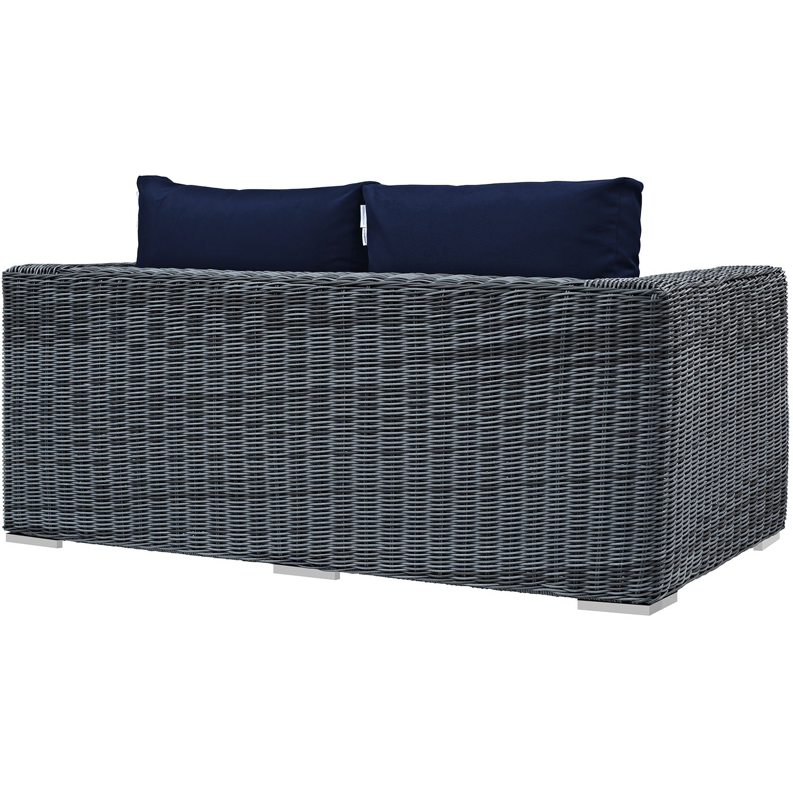 Summon Outdoor Patio Sunbrella® Loveseat - Canvas Navy