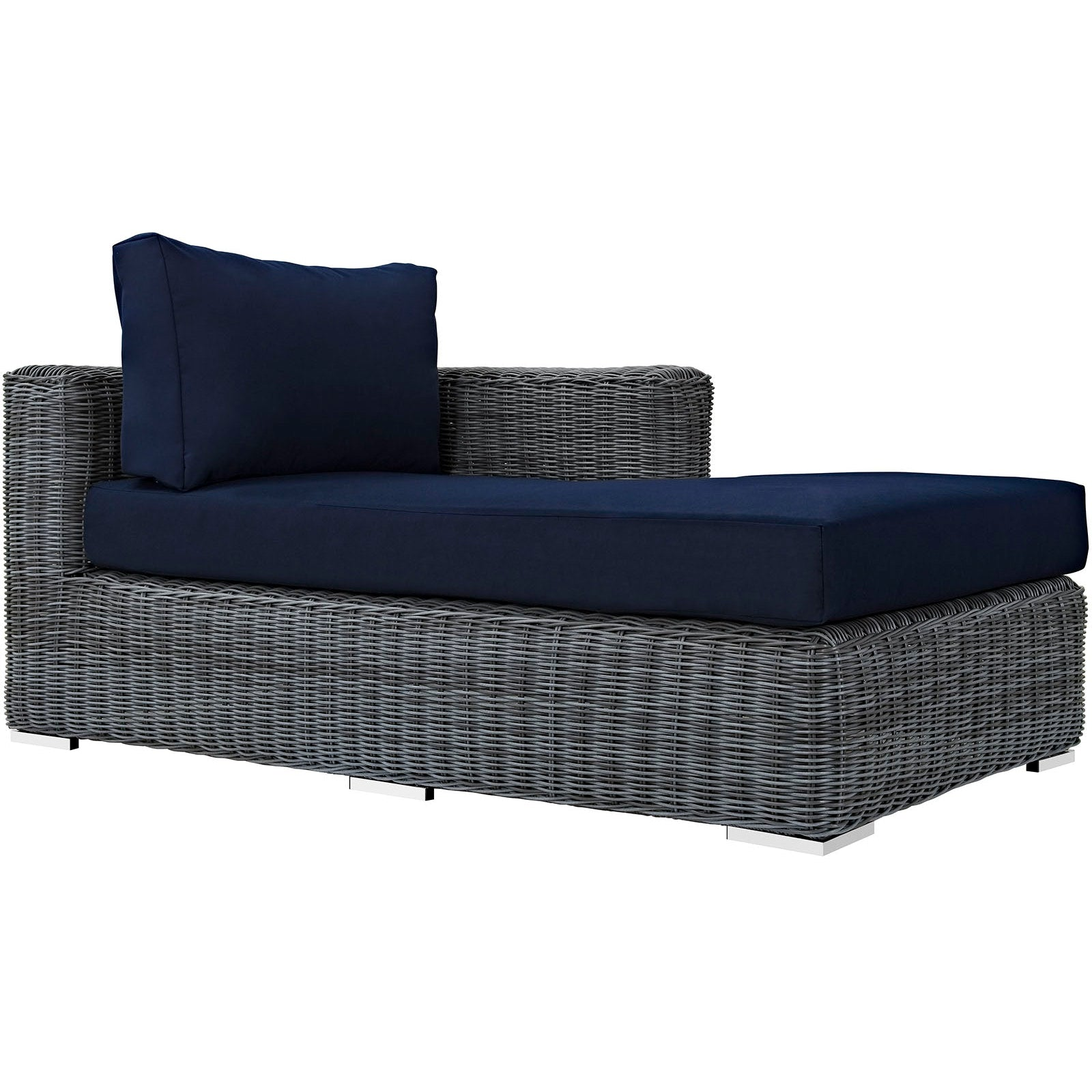 Summon Outdoor Patio Sunbrella® Right Arm Chaise - Canvas Navy