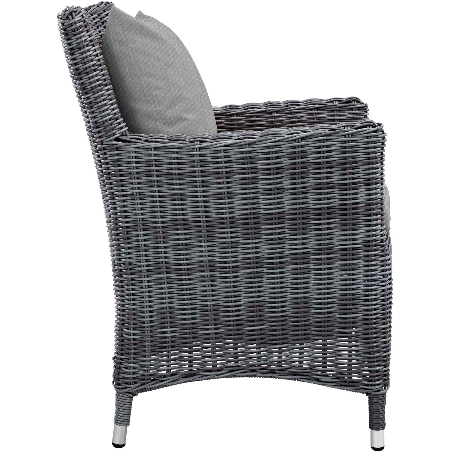 Summon Dining Outdoor Patio Sunbrella® Armchair - Canvas Gray