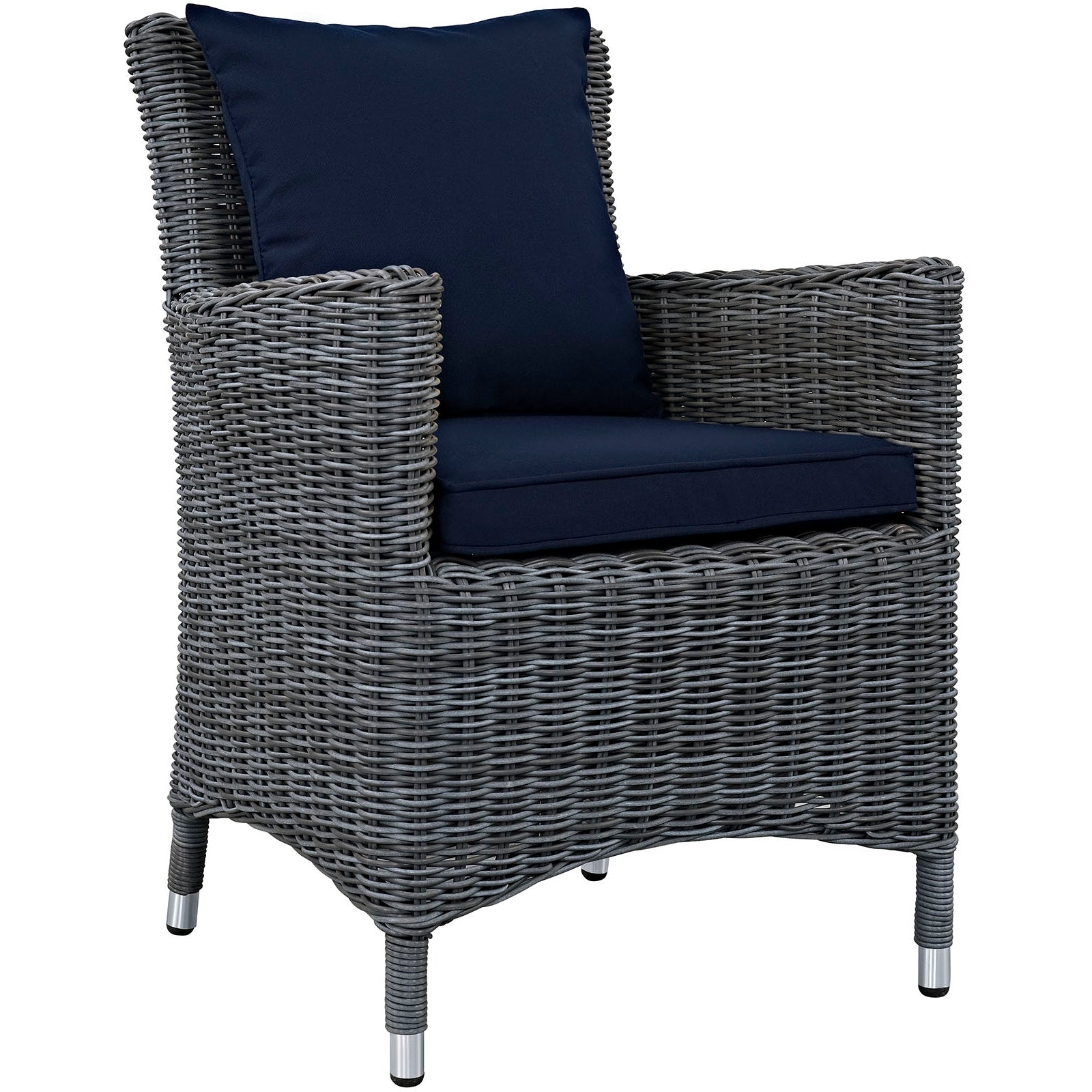 Summon Dining Outdoor Patio Sunbrella® Armchair - Canvas Navy